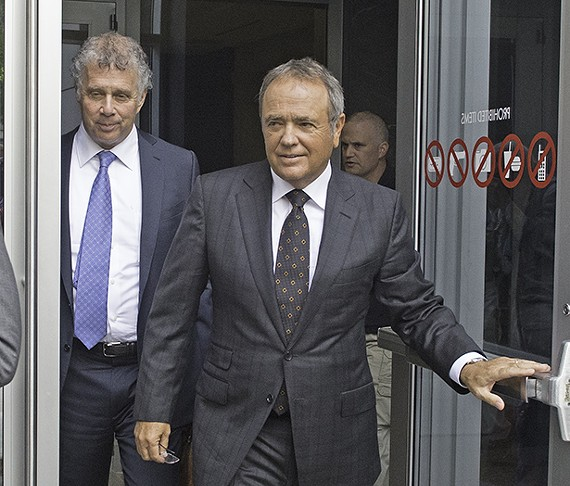 Former Star Scientific CEO Jonnie Williams exits the Federal courthouse Thursday after testifying in the corruption trial of former Gov. Bob McDonnell and his wife, Maureen McDonnell.