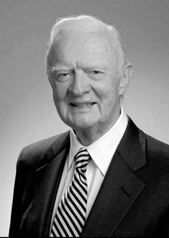 Former U.S. Sen. Harry F. Byrd Jr. died July 30 at 98. Virginia still grapples with his segregationist legacy. - AP/THE WINCHESTER STAR, HO