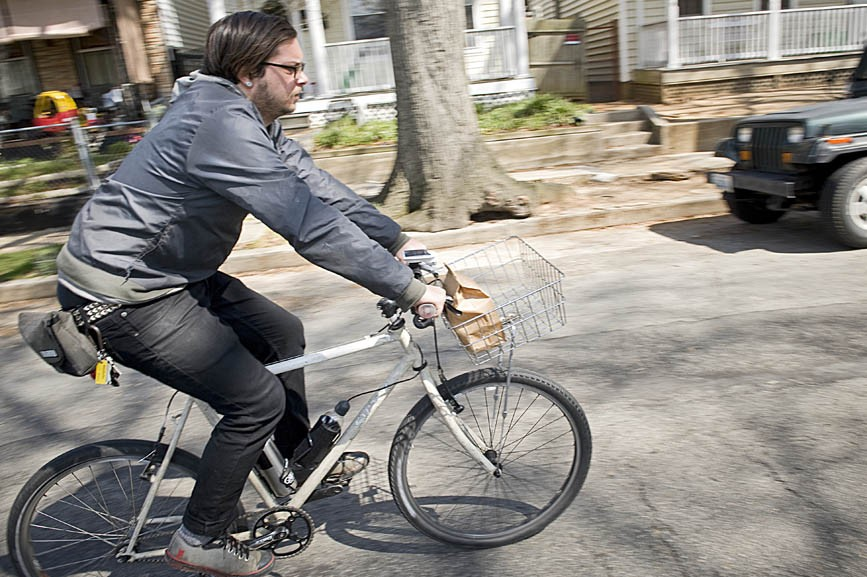 Frank Bucalo hopes his food-delivery business, Quickness RVA, brings Richmond closer to bicycle-oriented cities such as Portland, Ore., Copenhagen, Denmark, and his former turf in Brooklyn, N.Y. - ASH DANIEL