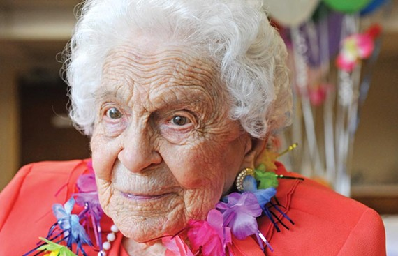 """Genevieve Forbes Morse's grandson says the 106-year-old may have never worn slacks. """"Even when we used to go fishing, she was dressed to a T."""""""
