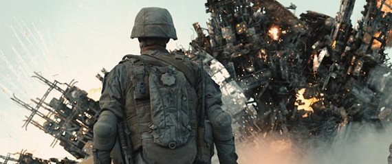 """""""Get General Spielberg on speed dial!"""" Critics are savaging """"Battle: Los Angeles"""" but it's no better or worse than dozens of other recent sci-fi action flicks. - SONY PICTURES"""