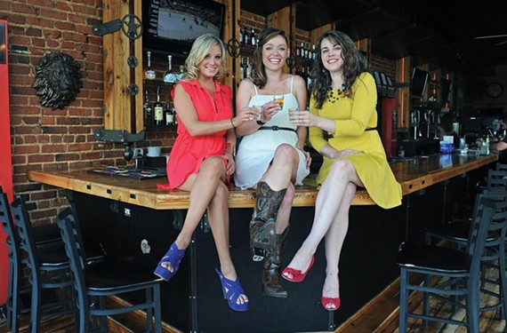 Girl power: Reader poll winners of Best Female Bartender, Camille Kostin, Shari Schaefer and Kat Price, take a break at the Republic. - SCOTT ELMQUIST