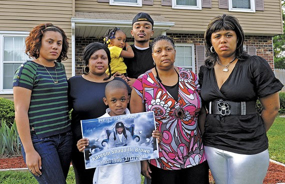 Girlfriend Nyasha Mangaroo, aunt Cassandra Wilson, nephew Mekhi Lewis, niece Nahnjahla Carrington, cousin Mike Wilson, mother Patricia Tisdale and sister Shaundavia Wilson share memories of Kareem Browne. Though some spell his name Brown, his family spells it Browne. - SCOTT ELMQUIST