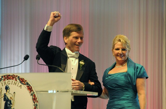 Gov. Bob McDonnell and his wife, Maureen, at the governor's inaugural ball in 2010. - SCOTT ELMQUIST