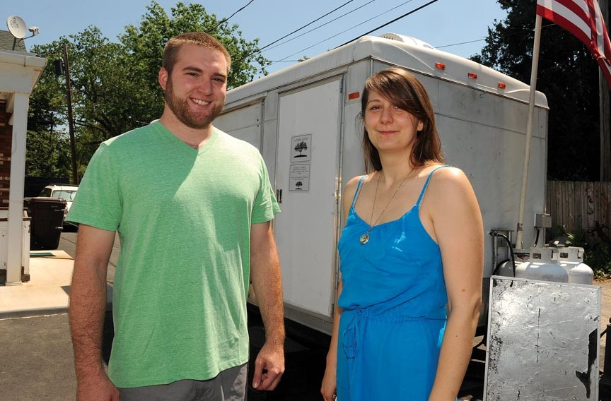 Graham Harrison and Lindsey Koertge are opening the Grey Hill Café in the former Jazzbo's Rollin' Gumbo trailer. - SCOTT ELMQUIST