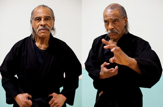 Grandmaster Sonny Strong earned his first belt 42 years ago, and he's been practicing karate ever since. - BRIGET GANSKE