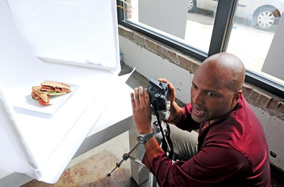Great food photography can do a lot to entice diners, Micheal Sparks says. His model: a BLT sandwich.