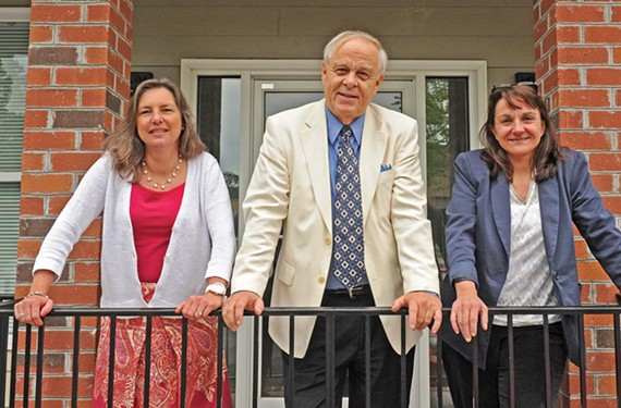 Greg Pearson, center, with Advertising Director Carol McCracken and Editor Nancy Nusser (right). - SCOTT ELMQUIST