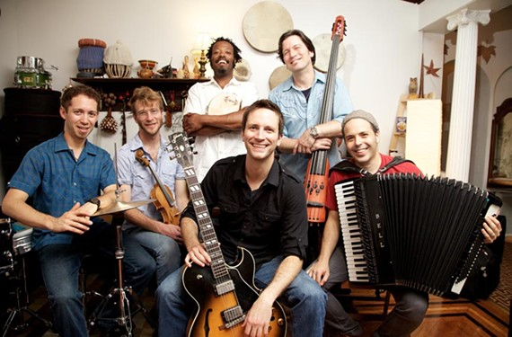 Guitarist Clay Ross (center) drops cross-cultural knowledge at Balliceaux.