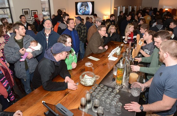 Hardywood Park Craft Brewery draws a crowd in February for a River City Barn Dance party, one of many regular events that keeps beer fans packing the place. - SCOTT ELMQUIST
