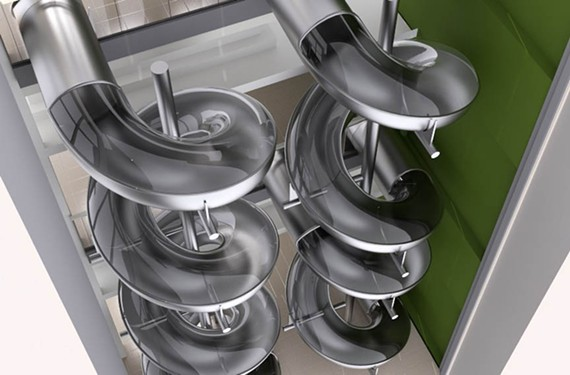 Health Diagnostics Laboratory shares a rendering of how it will enable employees to slide from one floor to another. - HEALTH DIAGNOSTICS LABORATORY, INC.