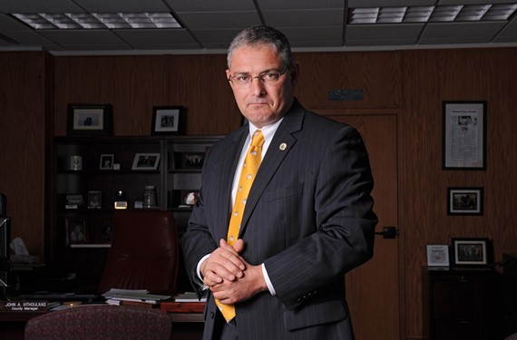 Henrico County Manager John Vithoulkas projects a smooth professionalism. Nearly a year on the job, he's faced a bumpy initiation.