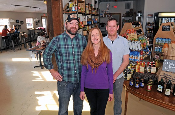 Hunter Robertson, Gillian Field and Shawn Tunstall opened Union Market in Church Hill in late January. A casual dining room and a retail spot for local foods and spirits give it a dual identity that's resonating with the neighborhood.