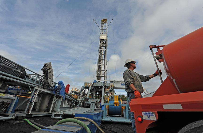 Hydraulic fracking to extract natural gas, as seen here in central Pennsylvania, may be coming to Virginia. Proponents say it's a cleaner alternative to coal. - SCOTT ELMQUIST