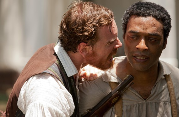 In a film generating Oscar buzz, actor Michael Fassbender plays a particularly cruel slave owner, and Chiwetel Ejiofor stars as a free black man who's kidnapped and sold into slavery in the South.