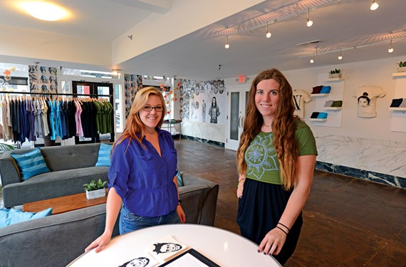 In their Jackson Ward showroom, Kelley Blanchard and Walker Wood of New Normal are threading T-shirt design into the community. - SCOTT ELMQUIST