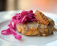 Infatuation begins with the crispy pig-head terrine with pickled mustard and red cabbage at the Roosevelt, where chef Lee Gregory goes free range at a good price.