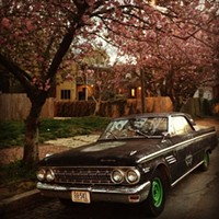#HiddenRVA on Instagram Instagram by: Amanda G. Crouch (@abgcrouch)Where: 24th and Clay streets in Church Hill.What caught my eye: The clash of the pink tree petals and the car's bright green hub caps. Also generally, the badassness of our neighbor's ride.