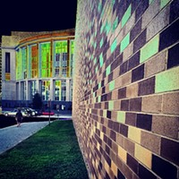 #HiddenRVA on Instagram Instagram by: Luke Witt (@alukewitt)Where: Food truck court at Richmond CenterStage.What caught my eye: I was waiting for one of the trucks to be ready and experimented with infrared camera on the HTC1. The brick wall made such a strikingly simple pattern against the courthouse.