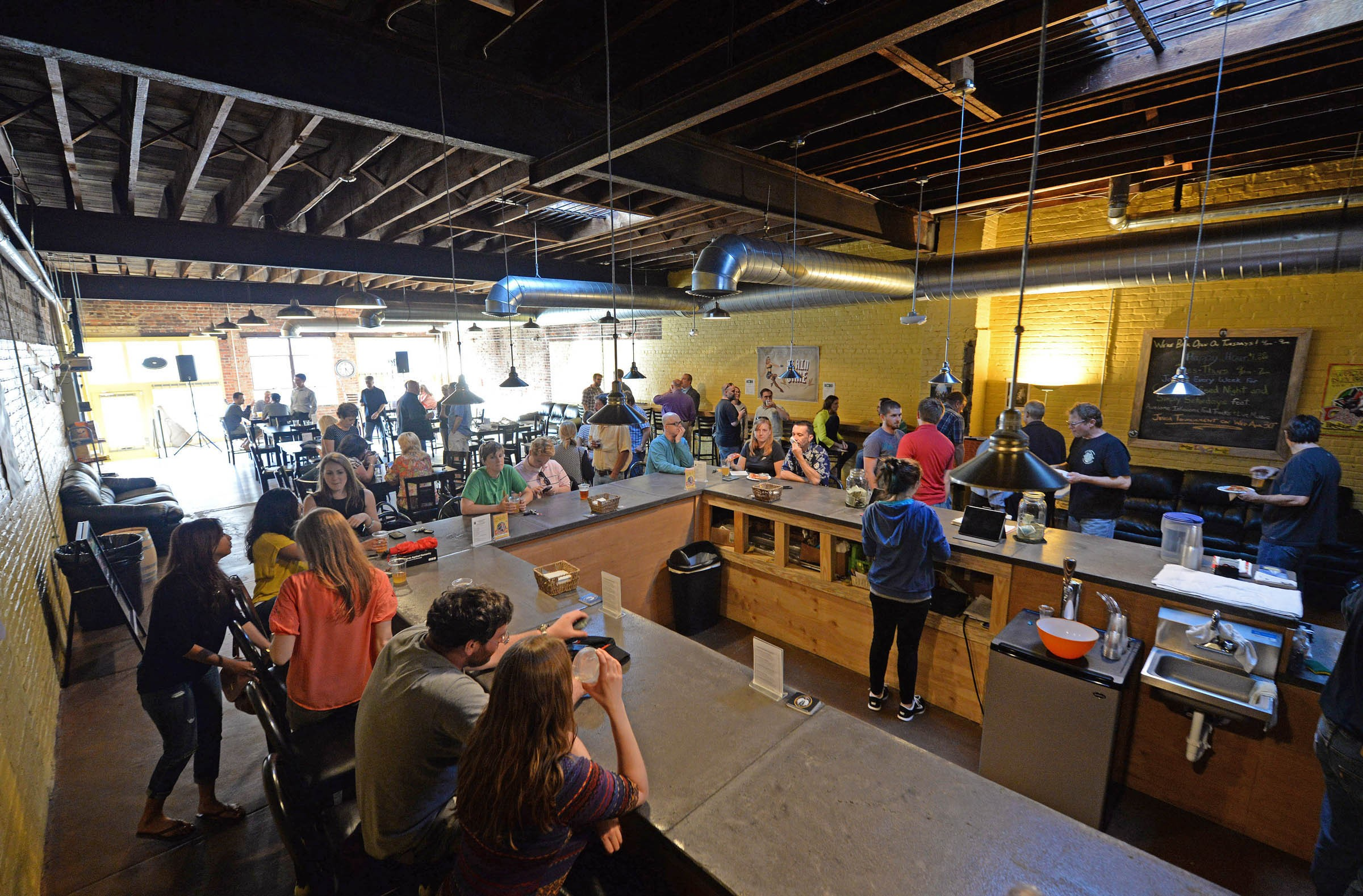 Isley Brewing Co., which opened in October 2013, is one of the breweries — along with Ardent Craft Ales — that have found a home in Scott's Addition. A third is on the way, and an urban winery concept has been proposed for the area. - SCOTT ELMQUIST
