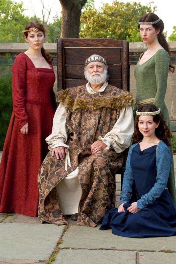 """It's good to be the King: Kerry McGee, Alan Sader, Sarah Jamillah Johnson and Jai Goodman (seated) co-star in a splendid production of """"King Lear."""" - ERIC DOBBS"""