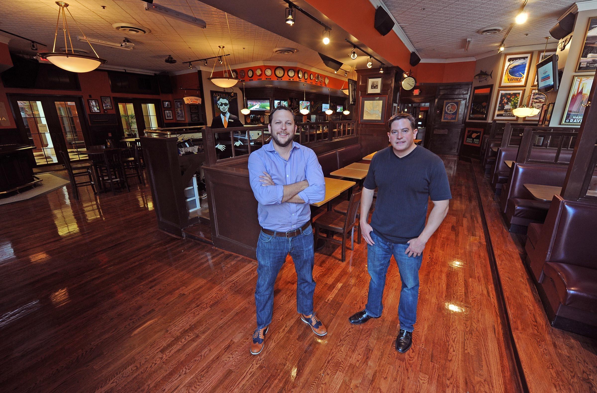 Jake Crocker and Hayden Fisher extend the F.W. Sullivan's brand into a canalside version, now open in the former Black Finn. - SCOTT ELMQUIST