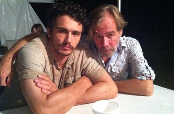 James Franco and local Richmond actor and musician Coby Batty posed for this selfie — the two have worked together on several films. - COBY BATTY