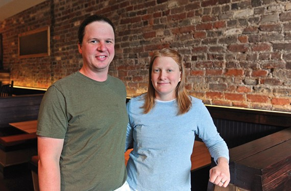 Jason and Amanda Lucy brought wood and beef from her family's historic farm for their Jackson Ward project, Lucy's, at 404 N. Second St. It opened Friday and serves lunch and dinner Tuesday through Saturday.