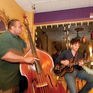 Jason Jenkins (left) and his jazz trio play at Olio in the Fan, one of the few Richmond restaurants offering live music during dinner hours.