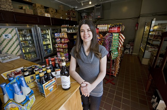 Jen Buckley runs the refurbished Cleveland Market in the museum district, and takes a special interest in the market's beer selection. - ASH DANIEL