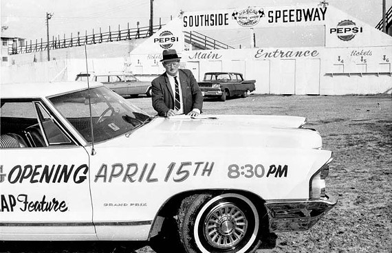 John Wilkinson bought the racetrack in 1957 and reopened Southside Speedway as a NASCAR track in April 1959. - SUE CLEMENTS