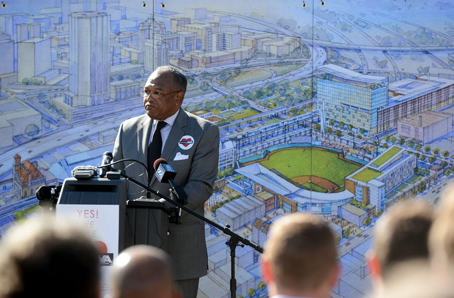 Jones unveils the most controversial proposal of his tenure thus far on Nov. 11: the relocation of the Flying Squirrels double-A baseball team to Shockoe Bottom. Jones' plan calls for a new city-financed ballpark within a stone's throw of known archeological slave sites, anchoring private development of apartments, a hotel, grocery store and a slave heritage site. - SCOTT ELMQUIST