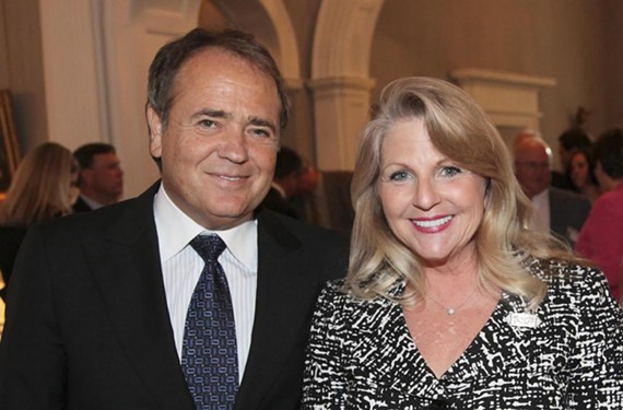 Jonnie Williams and Maureen McDonnell at a 2011 reception for Richmond International Raceway held at the Governor's Mansion. - MICHAELE WHITE/GOVERNOR'S OFFICE