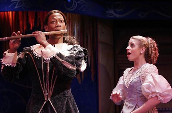 Josh Marin as the hero Tamino and Jaqueline Reynolds as Pamina star in veteran Richmond theater artist Paul Deiss' adaptation of Mozart's comic opera. - JAY PAUL