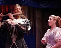 Josh Marin as the hero Tamino and Jaqueline Reynolds as Pamina star in veteran Richmond theater artist Paul Deiss' adaptation of Mozart's comic opera.