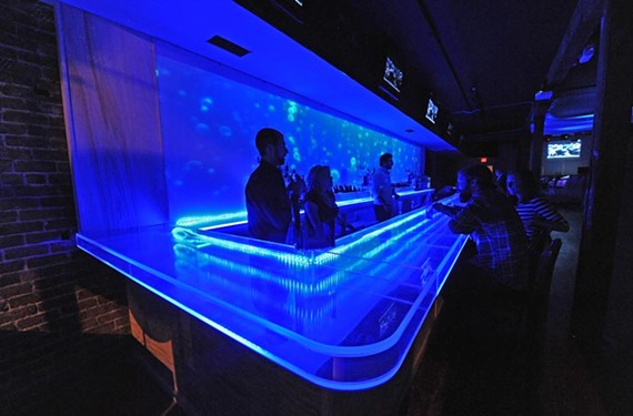 Kai, a new club beside Sam Miller's, brings a lot of blue and a very different feel to Shockoe Slip. - SCOTT ELMQUIST