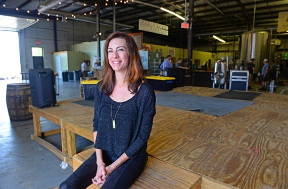 Kerry Anderson has been making a name for Hardywood Park Craft Brewery as a favorite spot for local bands to play — good sound and those complimentary beers don't hurt either.