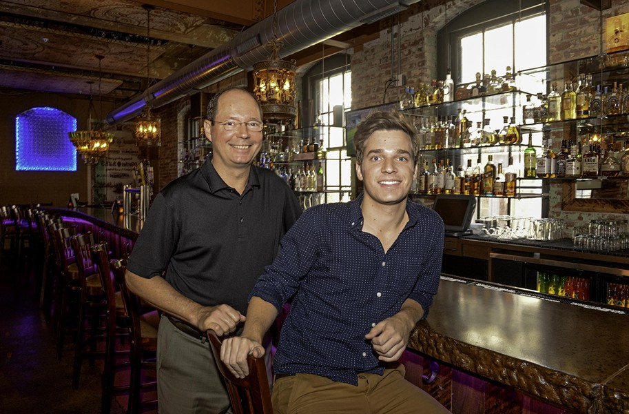 Kevin Healy, who owns the Boathouse and Casa Del Barco, says he's relied on his son Colin to help develop concepts for the bar and keep him connected with the local night life scene. - SCOTT ELMQUIST