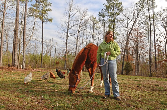 Kipra Niermann worries that a proposed landfill will jeopardize the safety of her family and neighbors, not to mention her horses and chickens.