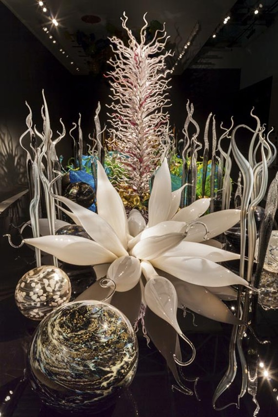 """Laguna Torcello,"" an installation of frosty and fantastical forms, is being shown for the first time at the Virginia Museum. - NATHANIEL WILLSON"