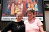 """Laine Satterfield, program director for SPARC's New Voices for the Theater, stands with Barbara Lindsay, New Voices' 2011 playwright in residence.  The program's new affiliation with the Firehouse Theater Project's Festival of New Plays is, according to Satterfield, """"a natural fit."""""""
