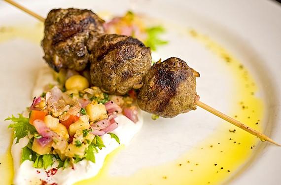 Lamb kebab at Bistro 27. - ASH DANIEL