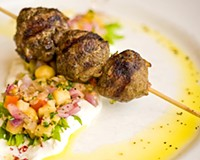 Lamb kebab at Bistro 27.