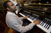"""Larri Branch's original jazz inspiration was Vince Guaraldi's soundtrack work for the """"Peanuts"""" cartoons. """"I always liked the idea of jazz,"""" the busy musician says."""