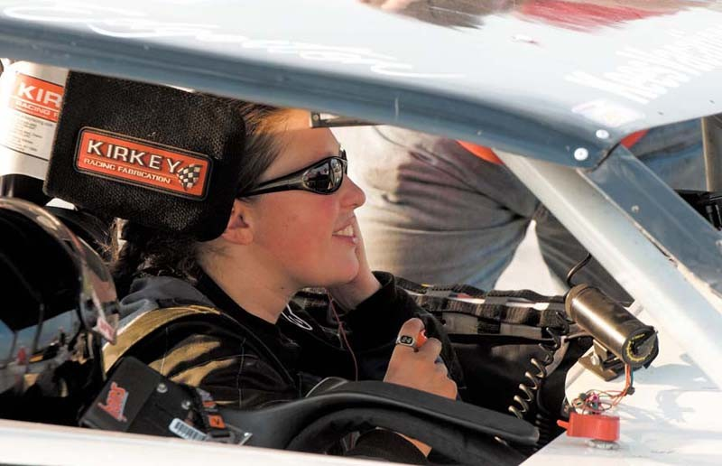 Lauren Edgerton, 21, races in the modified division, which features faster, open-wheel cars. - SCOTT ELMQUIST