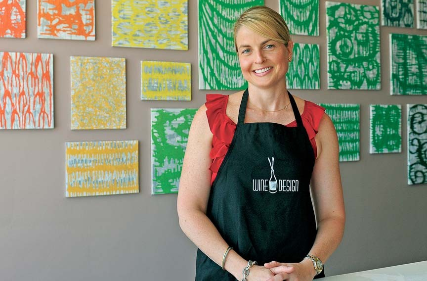 Layne Ashley Summerfield is about to open Wine and Design, a social painting experience with local food and drink, on Broad near the Boulevard. - SCOTT ELMQUIST