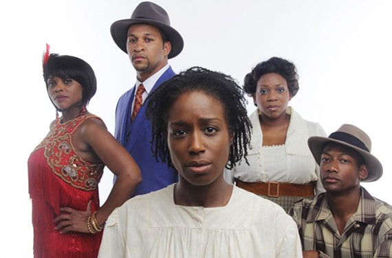 Leading a cast of 35, are, from left: Carolyn Minor-Daughtry, Jerold Solomon, Felicia Curry, Desiree Roots Centeio and Josh Marin.