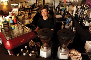Leigh Isaac is a barista at Globehopper. - SCOTT ELMQUIST