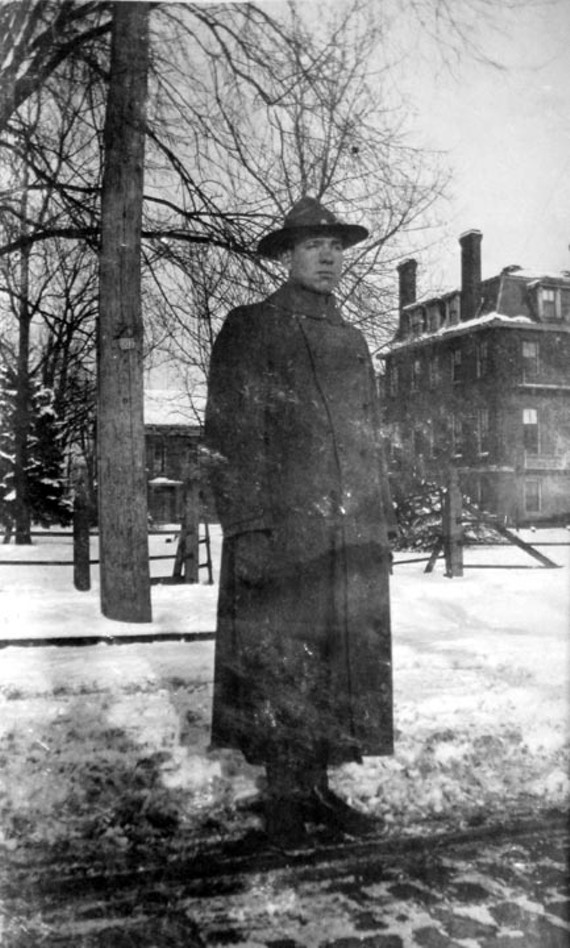 Leon, one of the Stilson's two sons, is shown here in his military uniform. After working with his father and brother, Donald, at the Virginia Railway and Power Co., he served in World War I where he was killed. He is buried in France. - COPYRIGHT RICHMOND IN SIGHT
