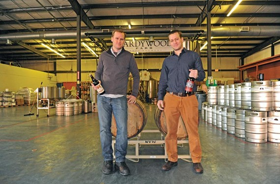 Lifelong friends Patrick Murtaugh and Eric McKay launched Richmond's newest microbrews with the opening of Hardwood Park Craft Brewery. - SCOTT ELMQUIST